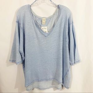 We The Free Dreamy Clouds Baby Blue Tee NWT